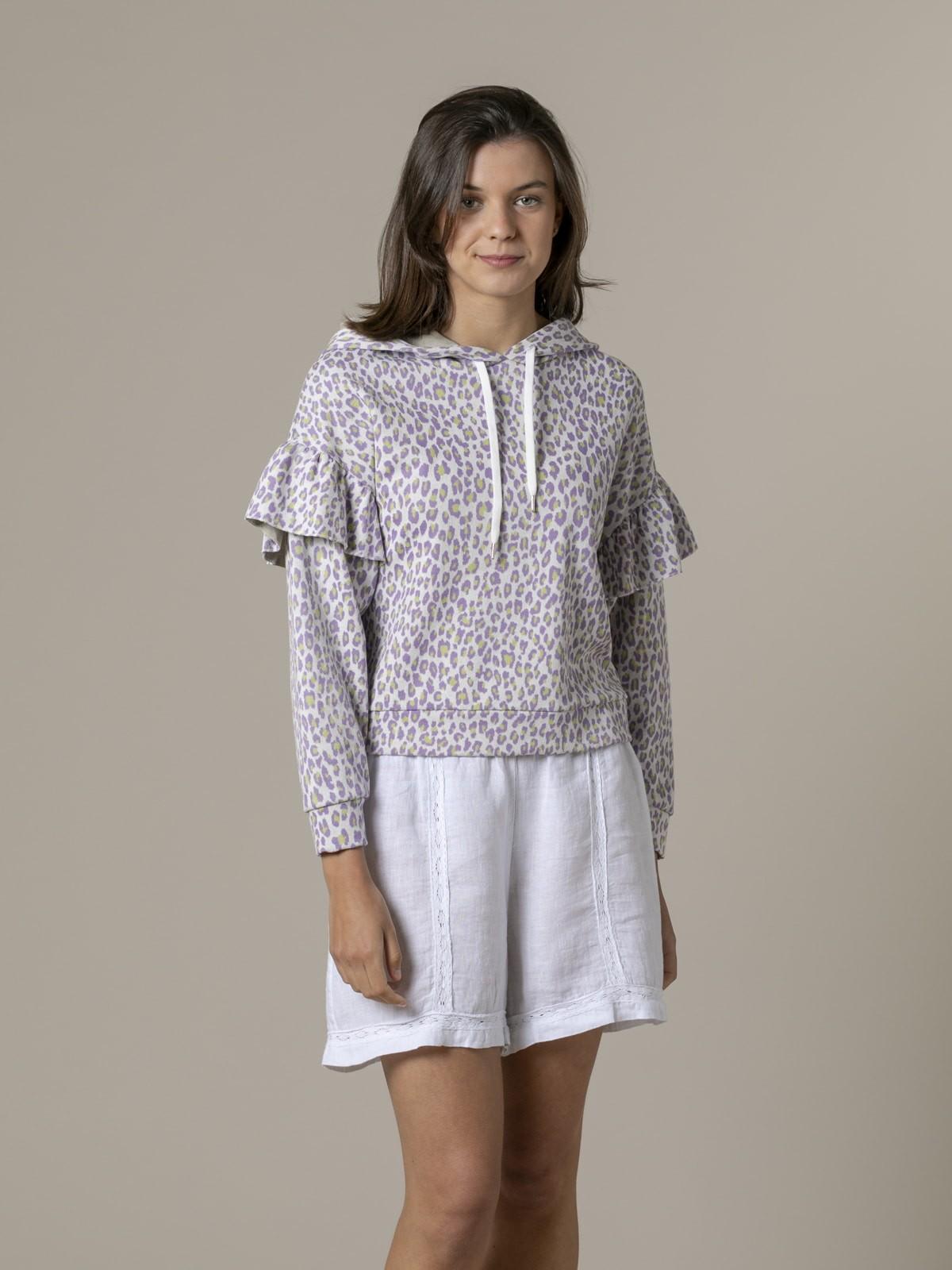 Woman Woman Leopard sweatshirt Lila