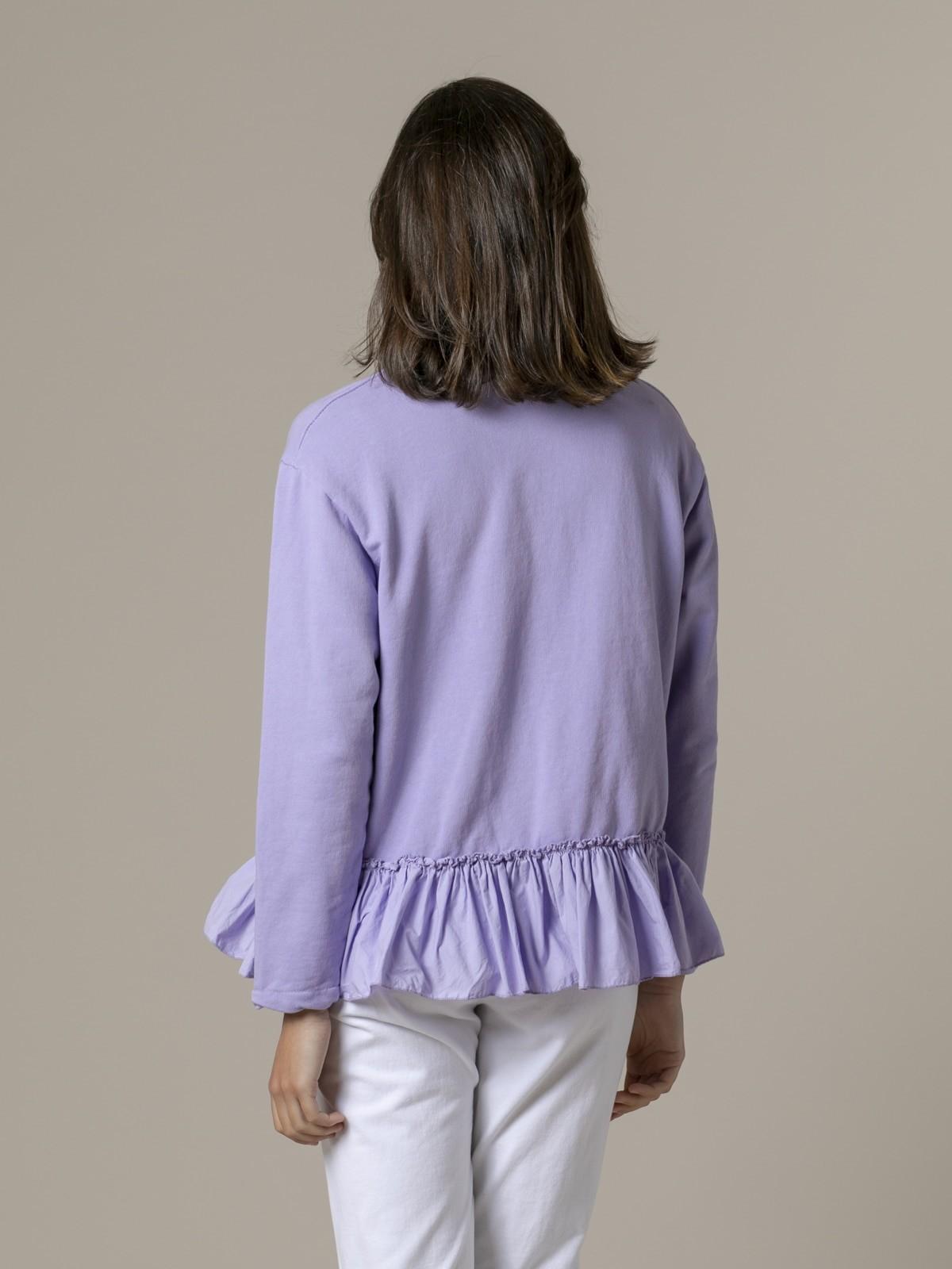 Woman Woman Ruffle sweatshirt Lila