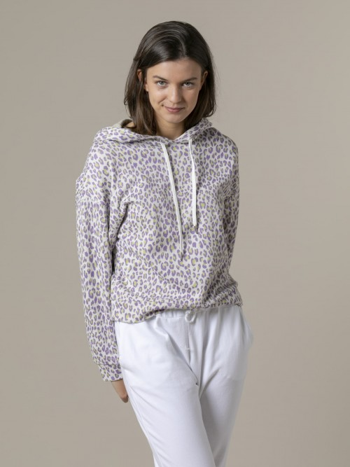Woman Woman Animal print sweatshirt Lila