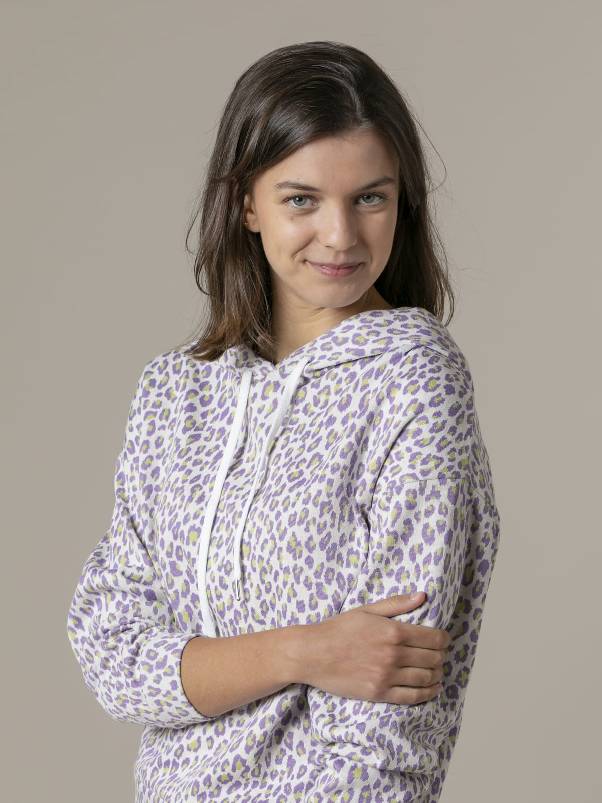 Woman Woman Animal print sweatshirt Lila