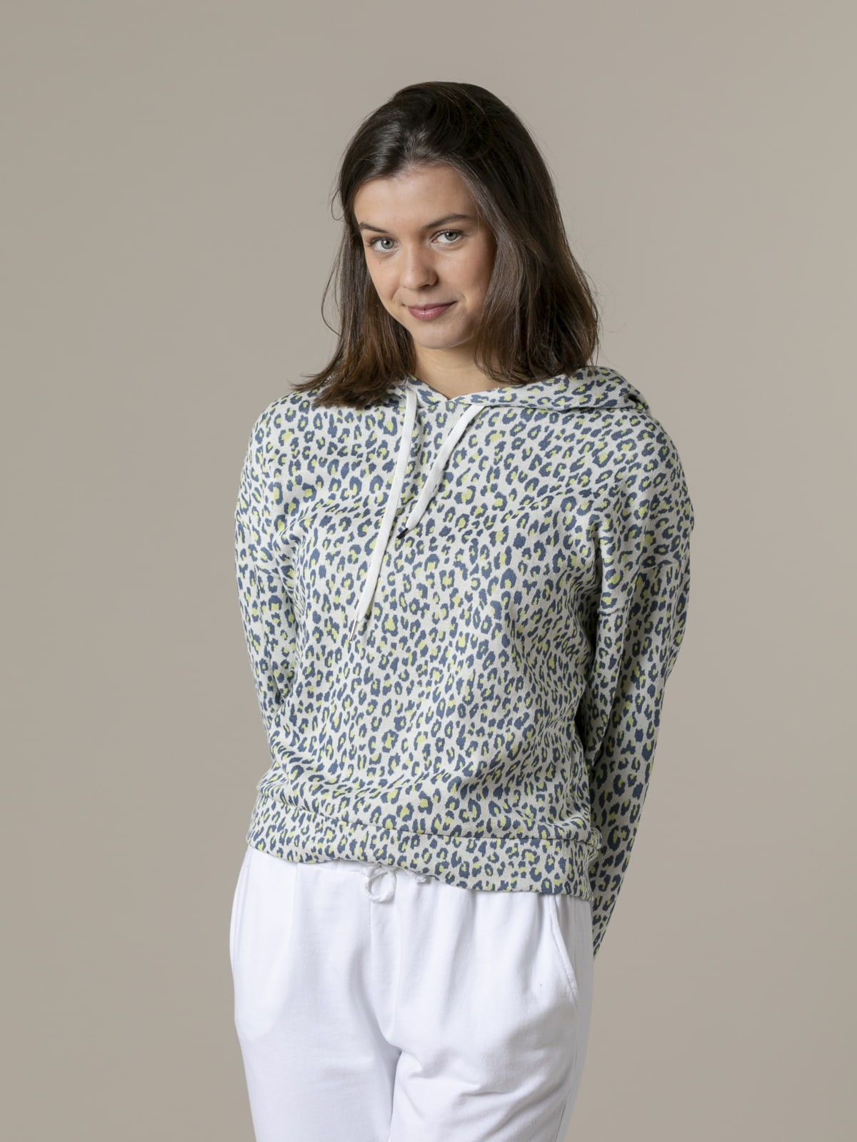 Woman Woman Animal print sweatshirt azul oscuro