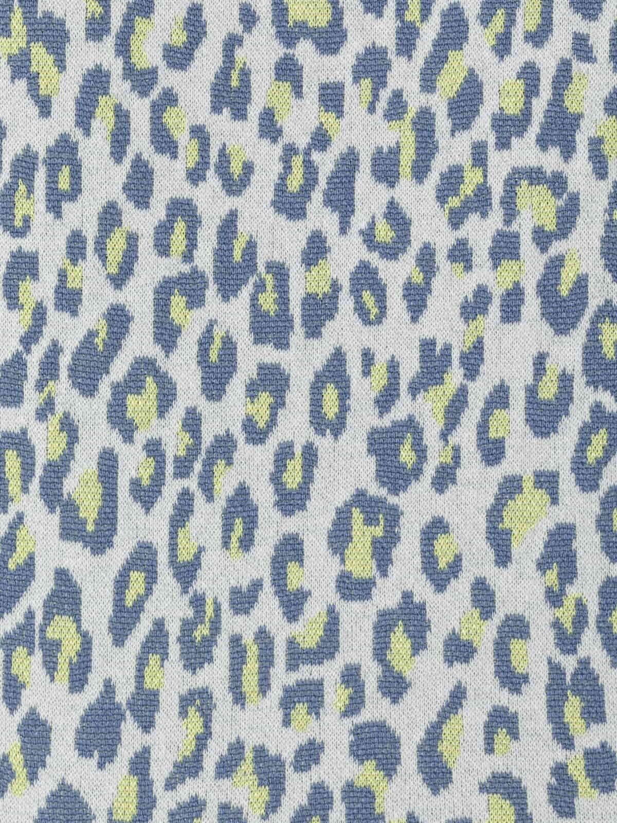 Sudadera mujer animal print azul oscuro