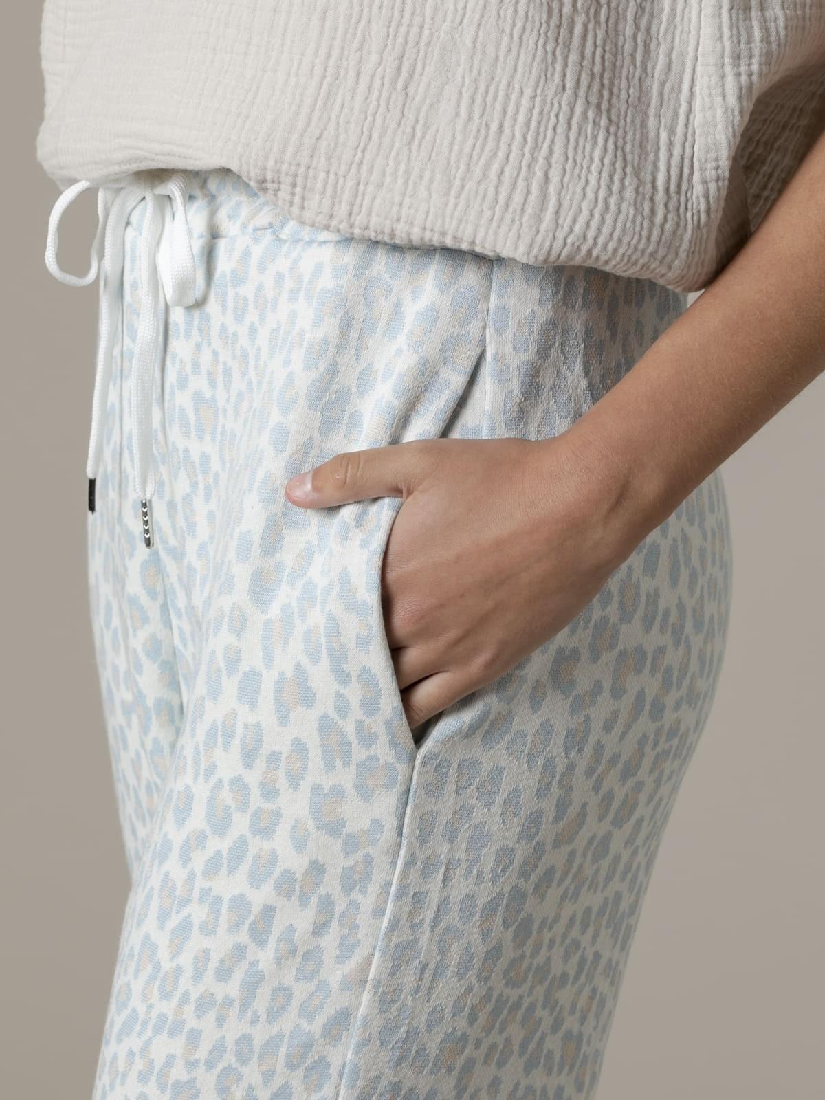 Woman Woman Leopard sport trousers Blue Claro