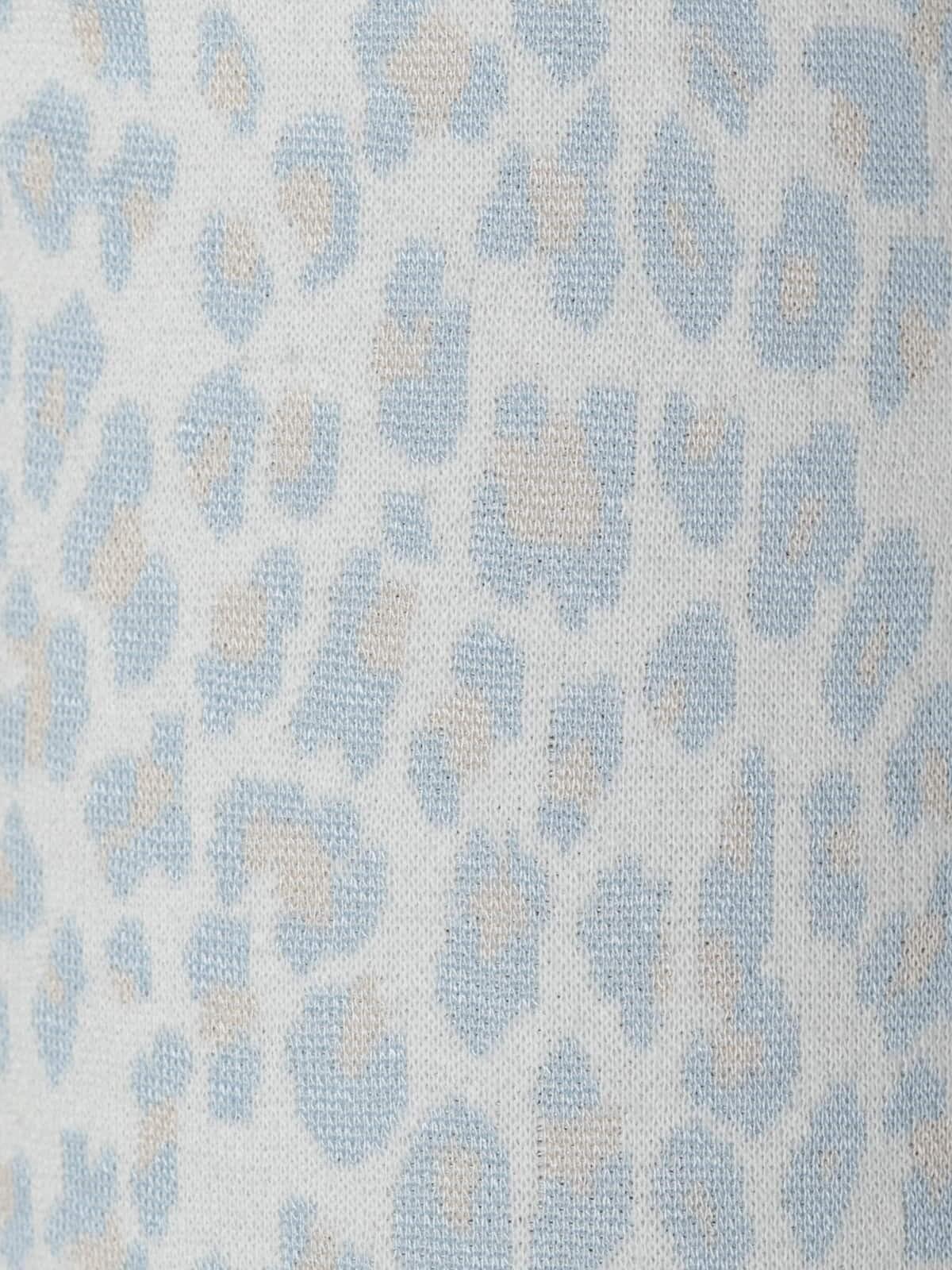 Pantalón sport mujer leopardo Azul Claro