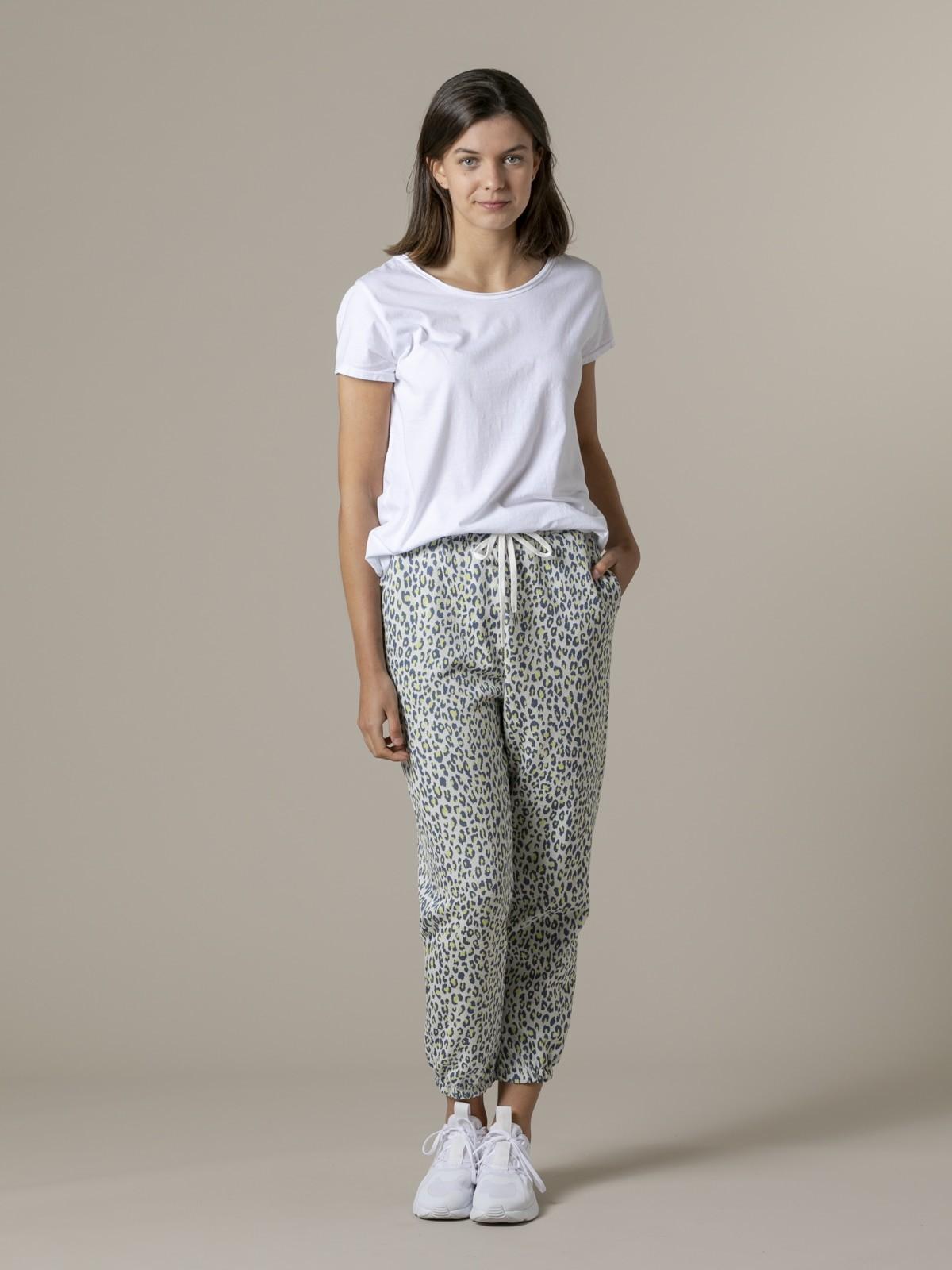 Woman Leopard sport trousers azul oscuro