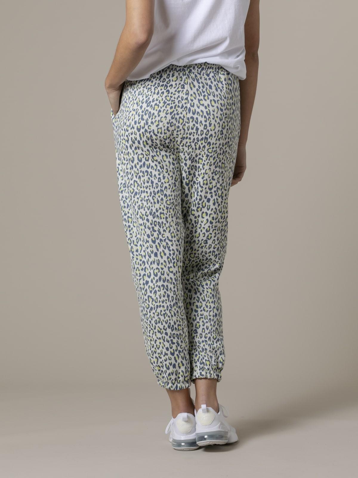 Woman Woman Leopard sport trousers azul oscuro