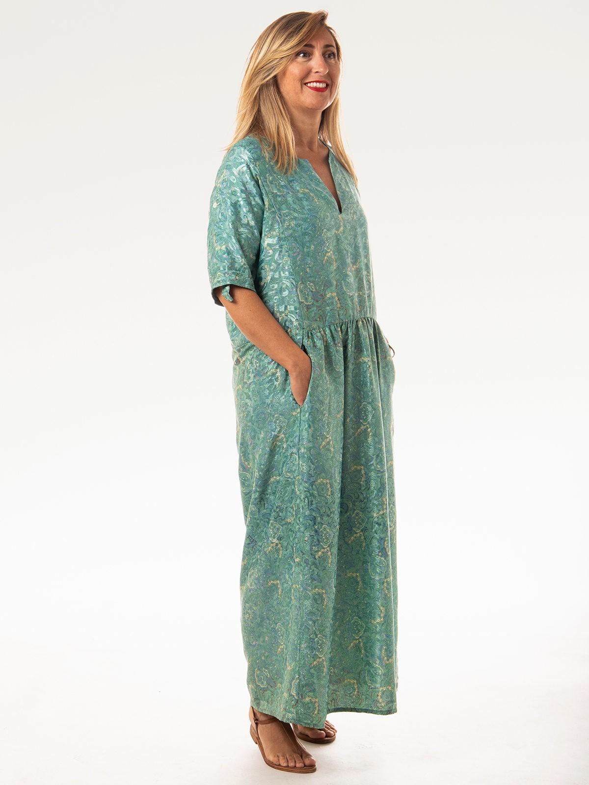 Woman Woman Long flowing dress Turquoises