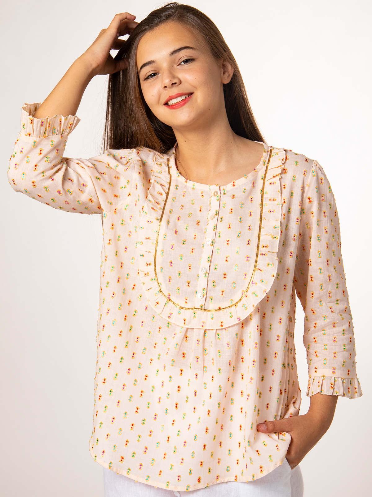 Camisa mujer lurex Rosa