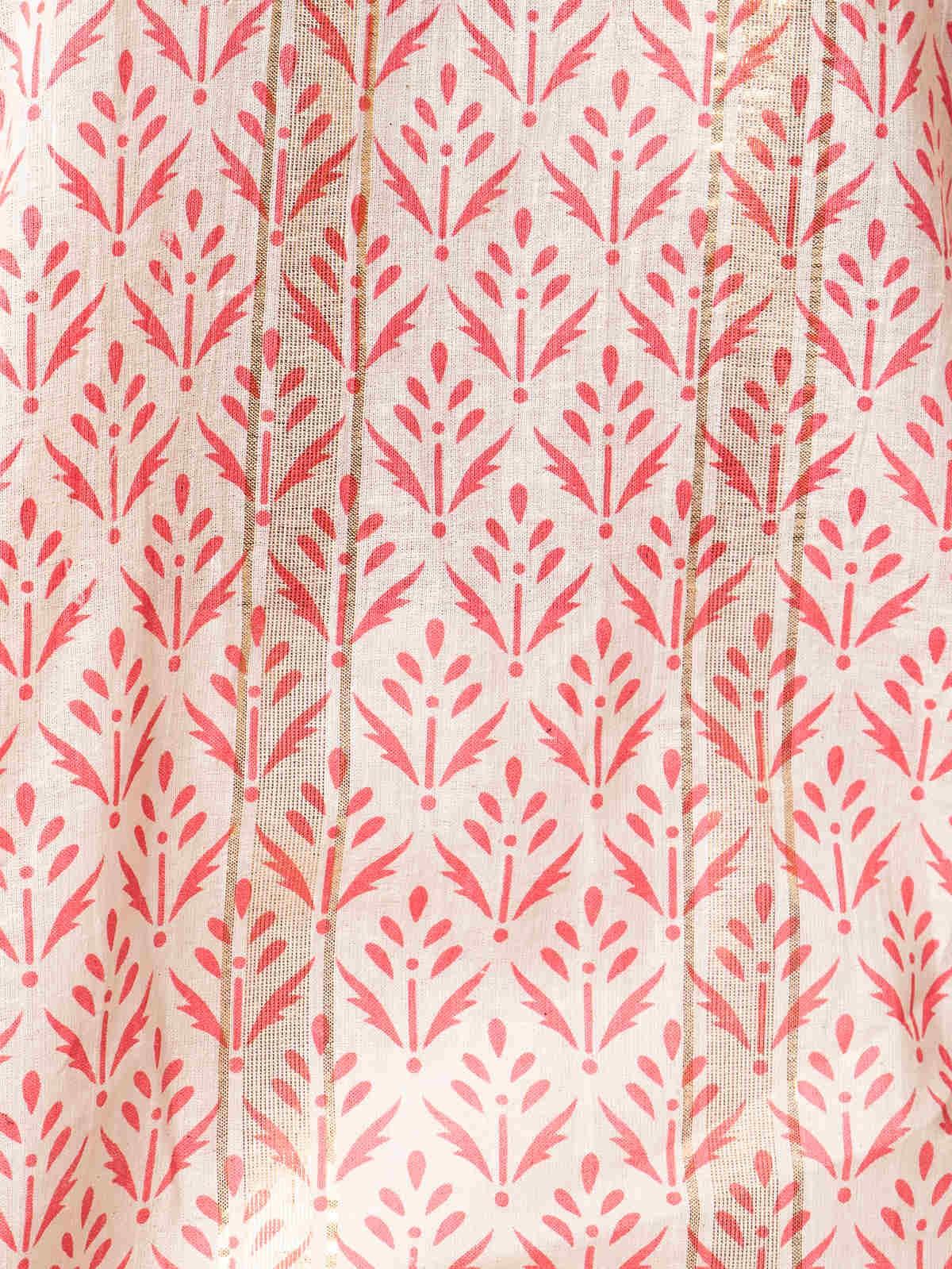 Woman Woman Herringbone print shirt Coral