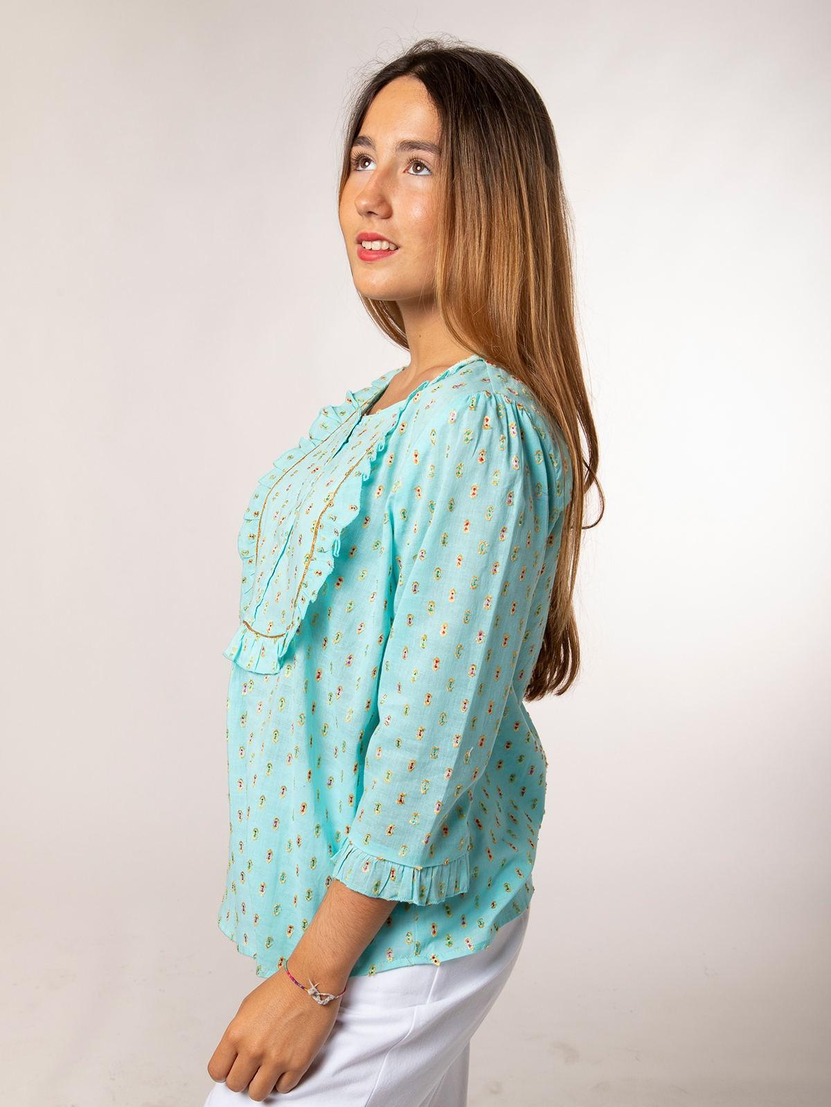 Woman Woman Lurex shirt Aqua