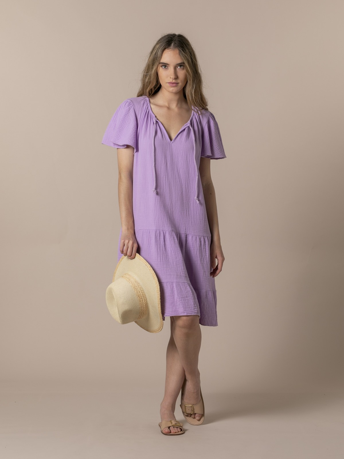 Woman Special flared cotton dress Lila
