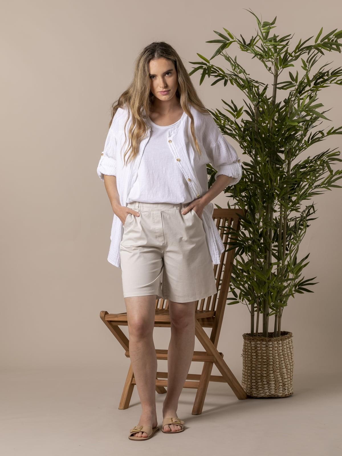 Camisa mujer algodón trendy Blanco