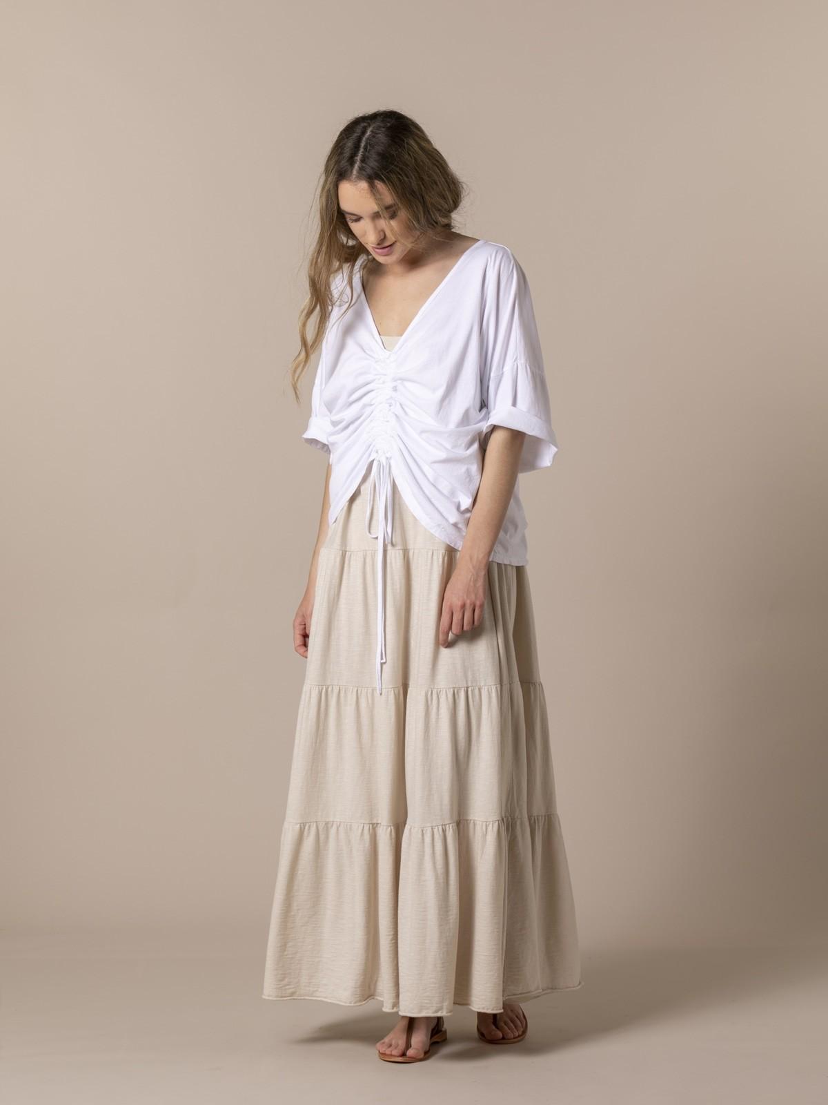 Woman Woman Cotton adjustable t-shirt White