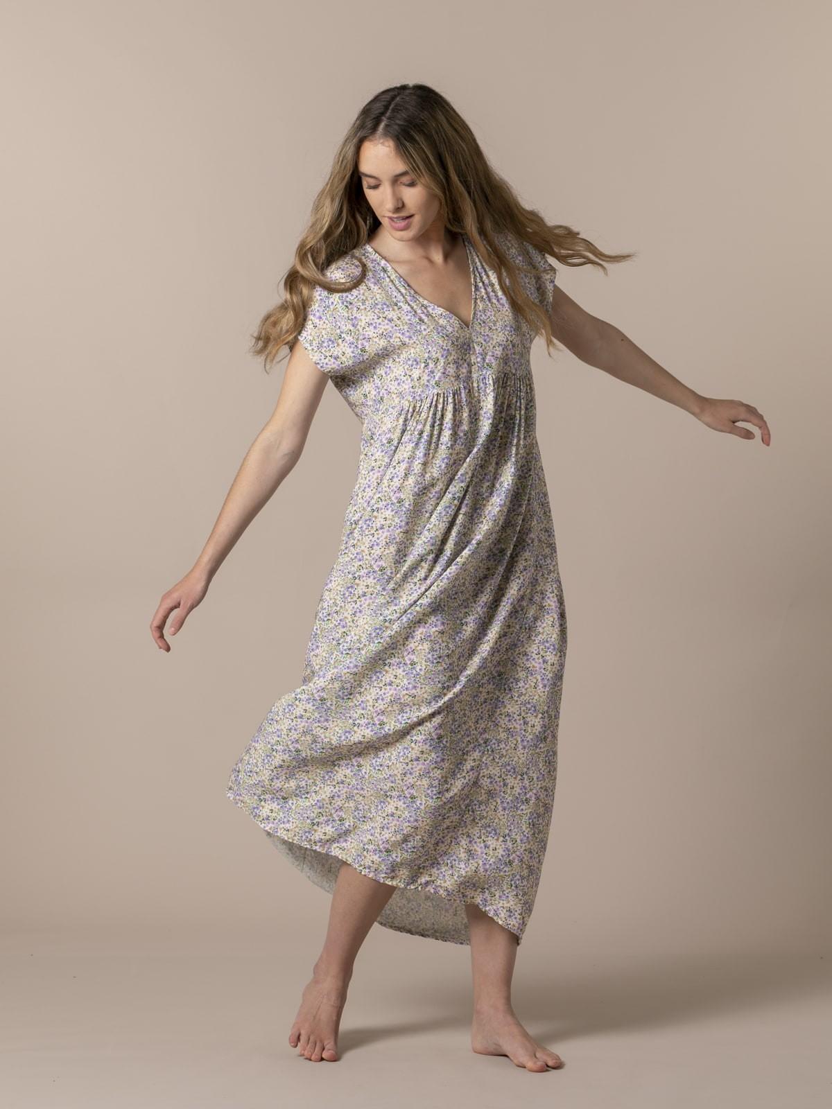 Woman Long printed dress Lila
