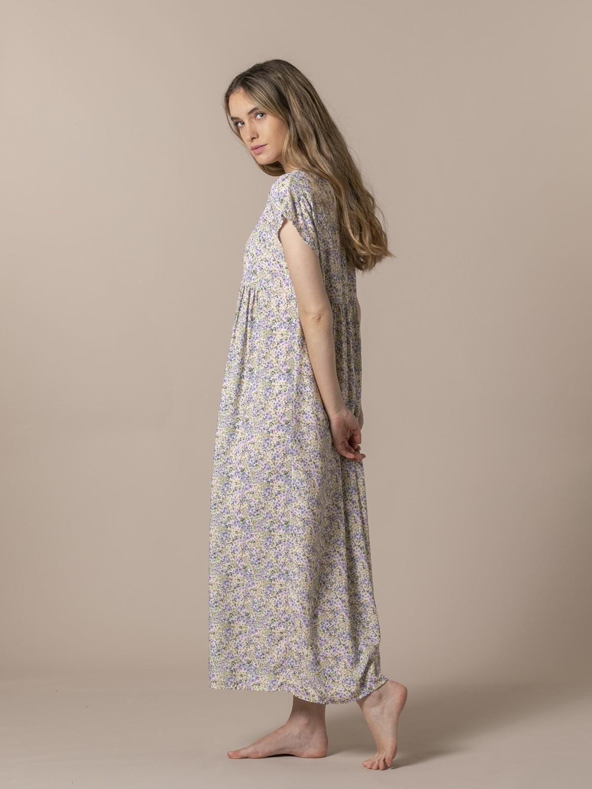Vestido largo estampado Lila