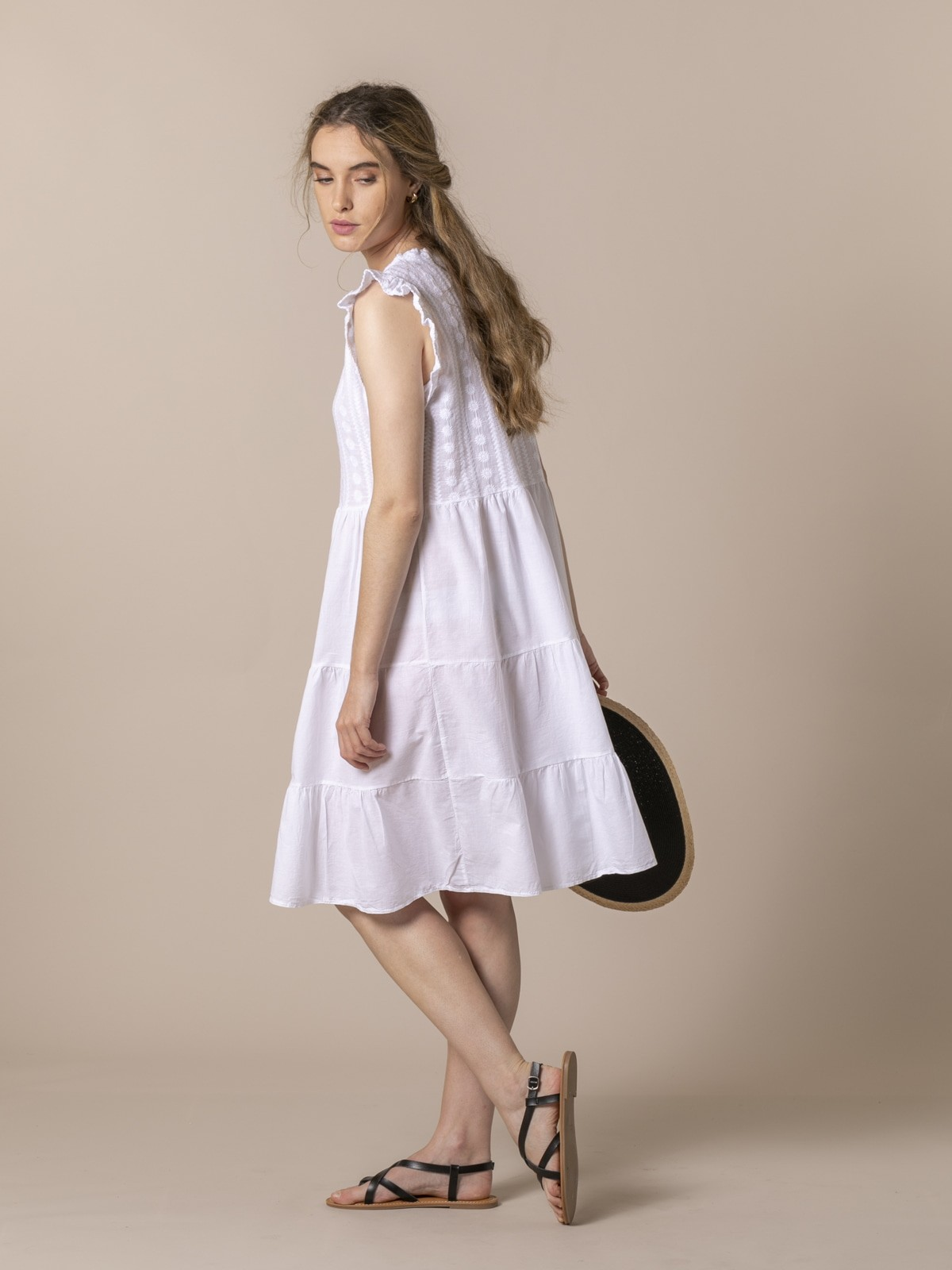 Woman Woman Embroidered dress White
