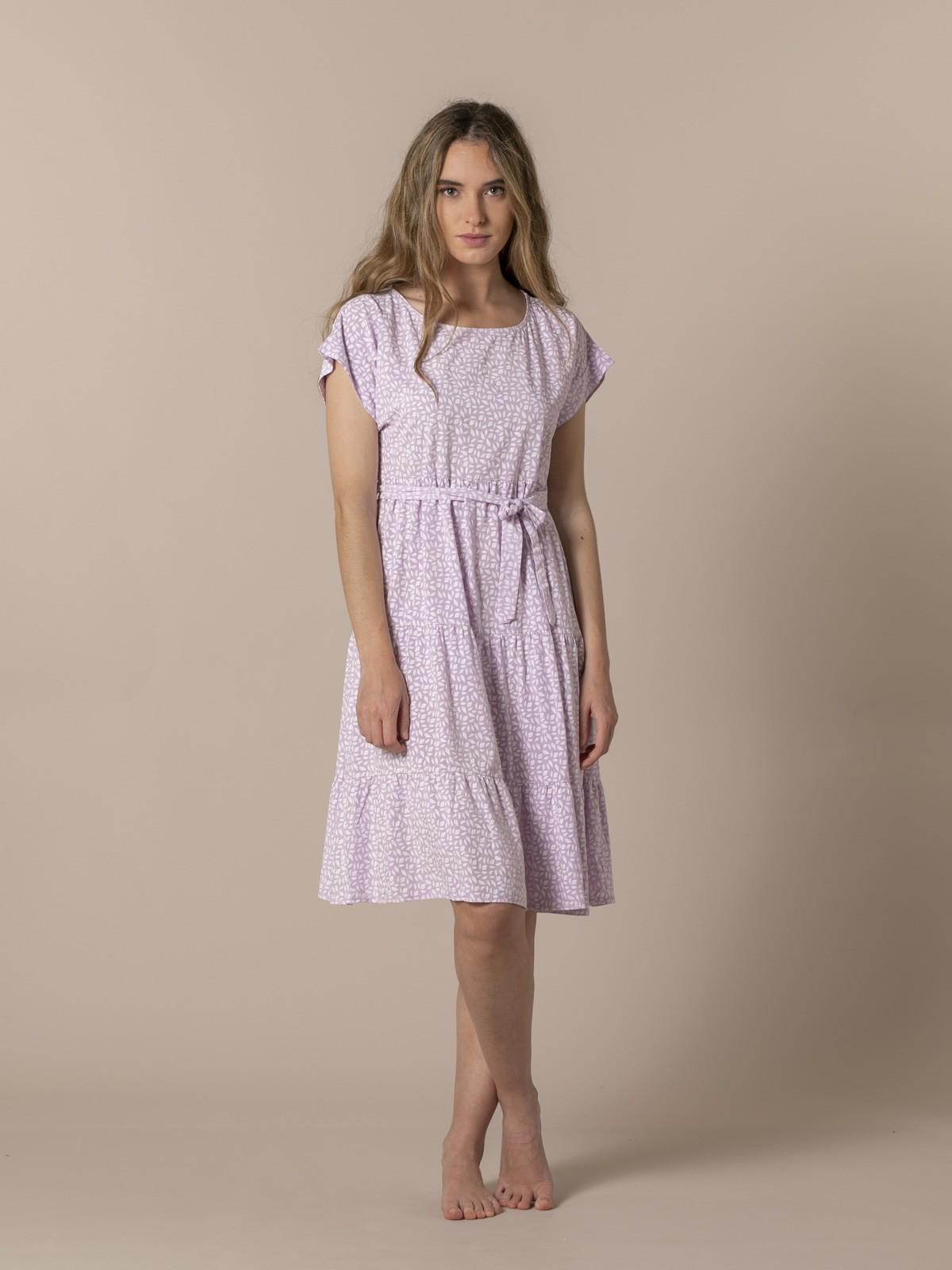 Woman Monochrome print fluid dress Lila