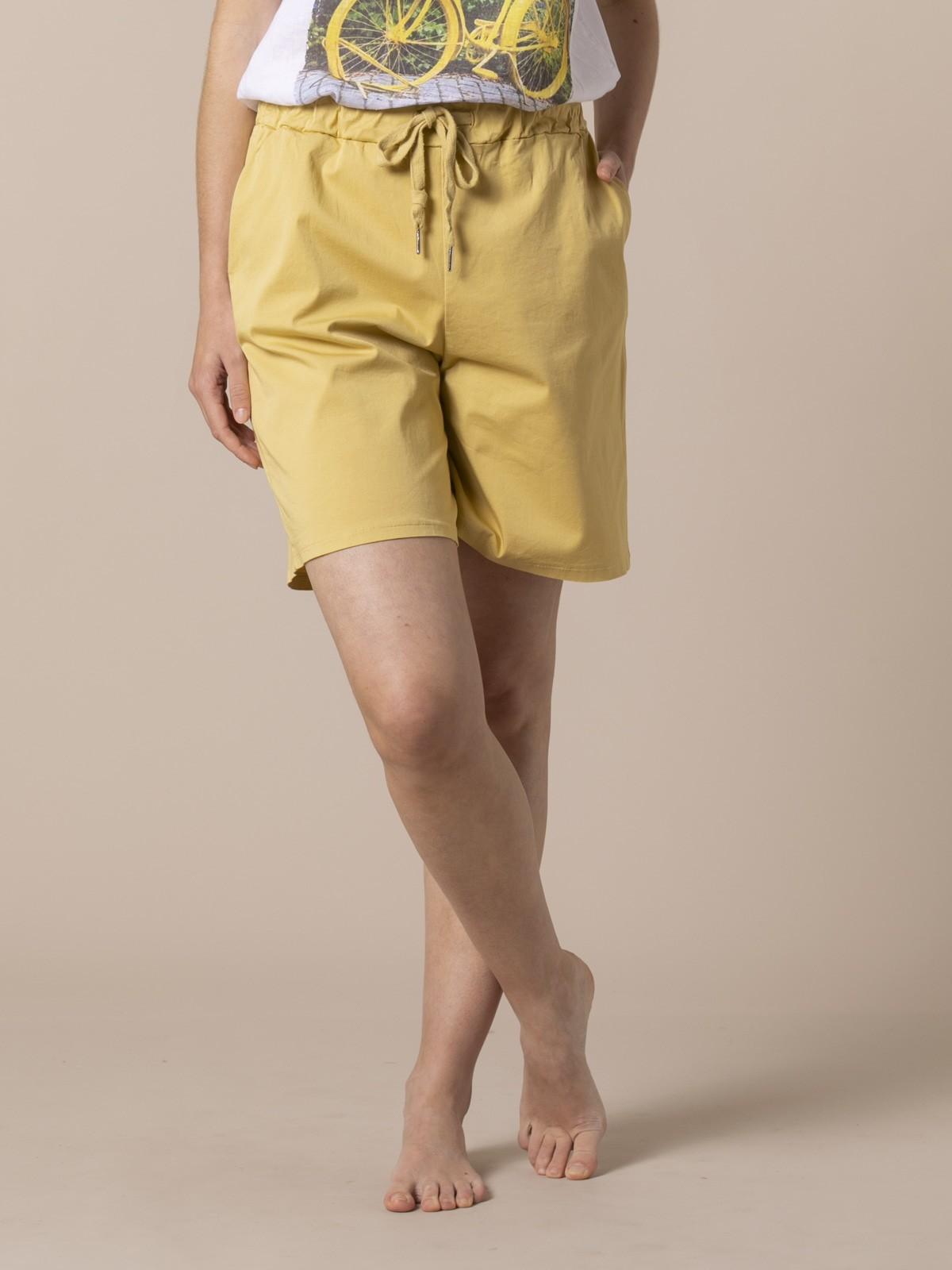 Woman Woman oversized cotton bermuda Amarillo