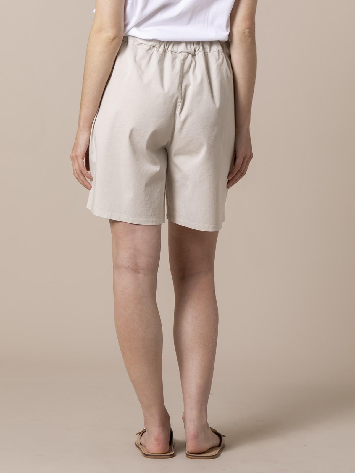 Woman Woman oversized cotton bermuda Beige