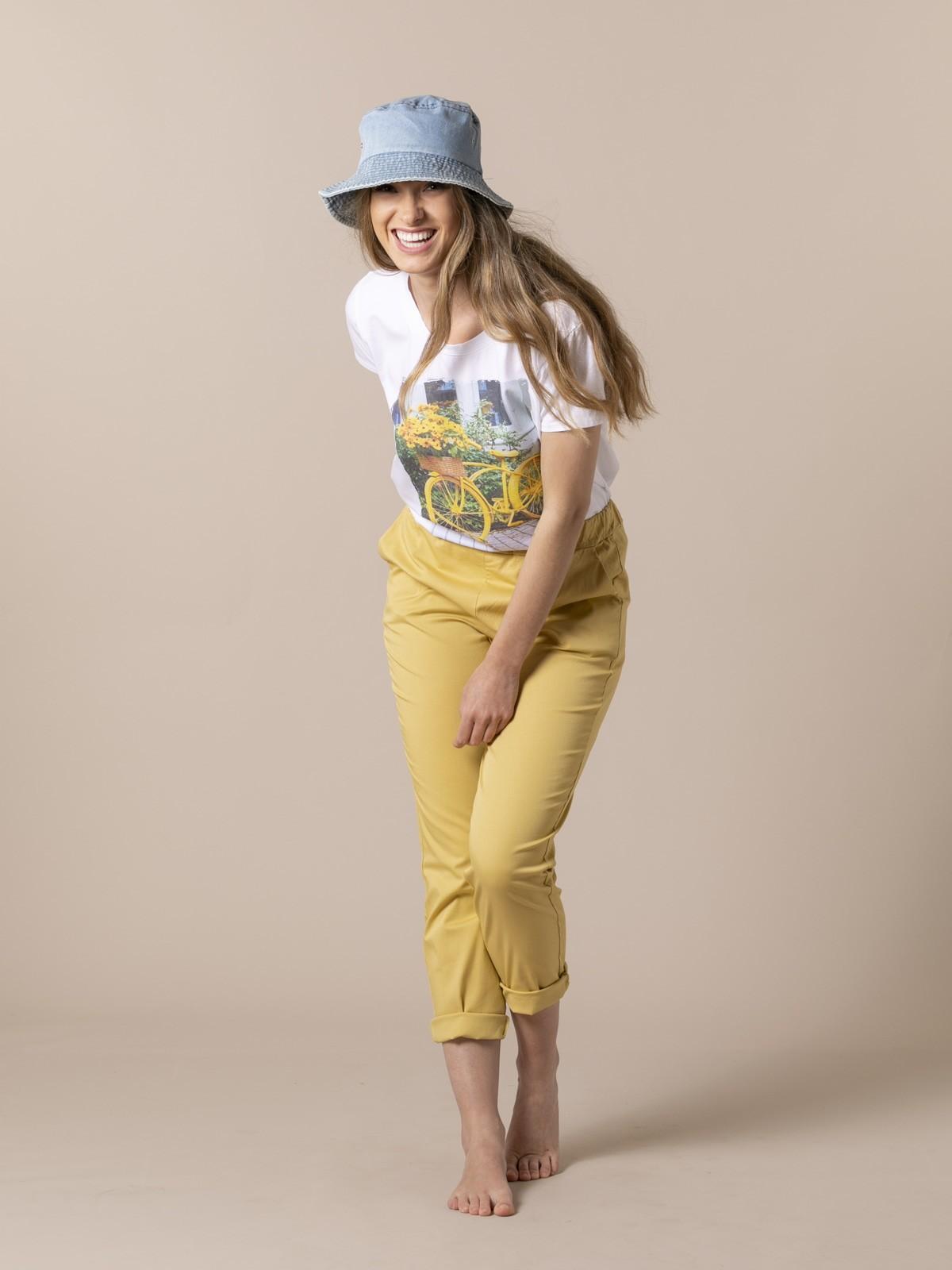 Woman Woman Light sport trousers Ocher