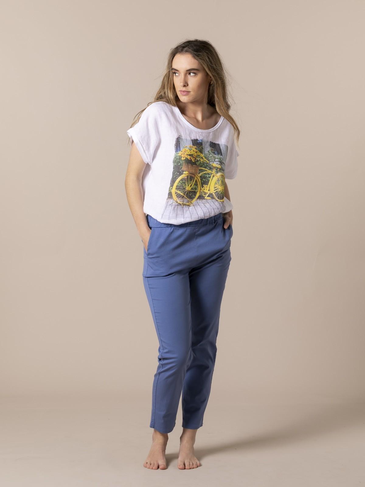 Pantalón mujer sport ligero Azul