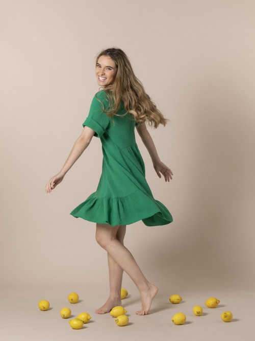 Woman Trendy fabric drop dress Green