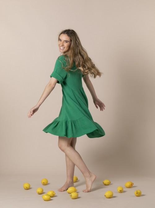 Vestido caida tejido trendy Verde