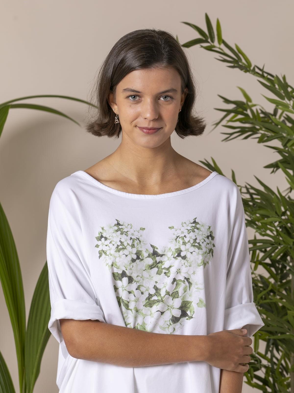 Woman Woman Floral Teddy T-shirt Green