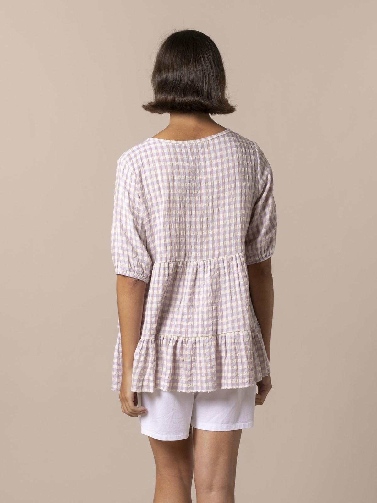 Woman Woman Gingham check shirt Lila