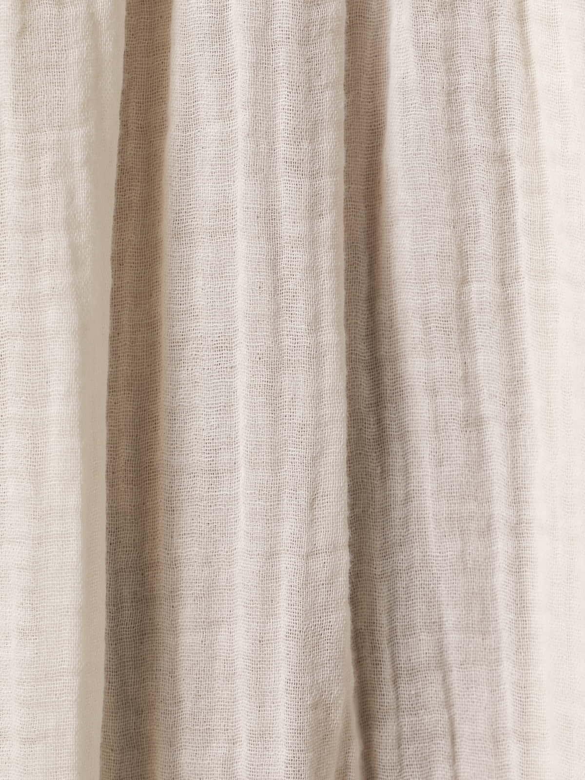 Vestido largo doble cuello pico Crudo