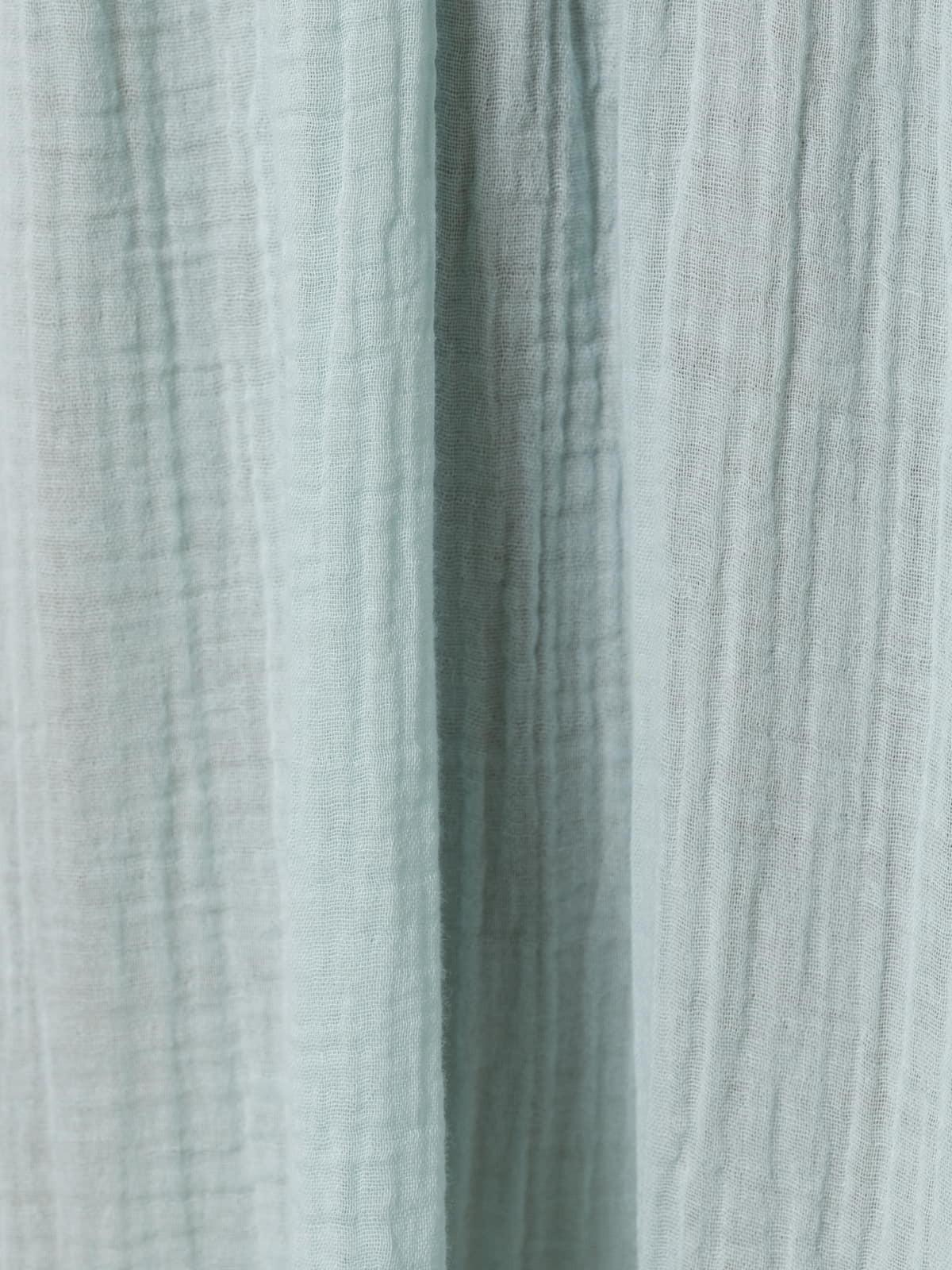 Vestido largo doble cuello pico Aqua