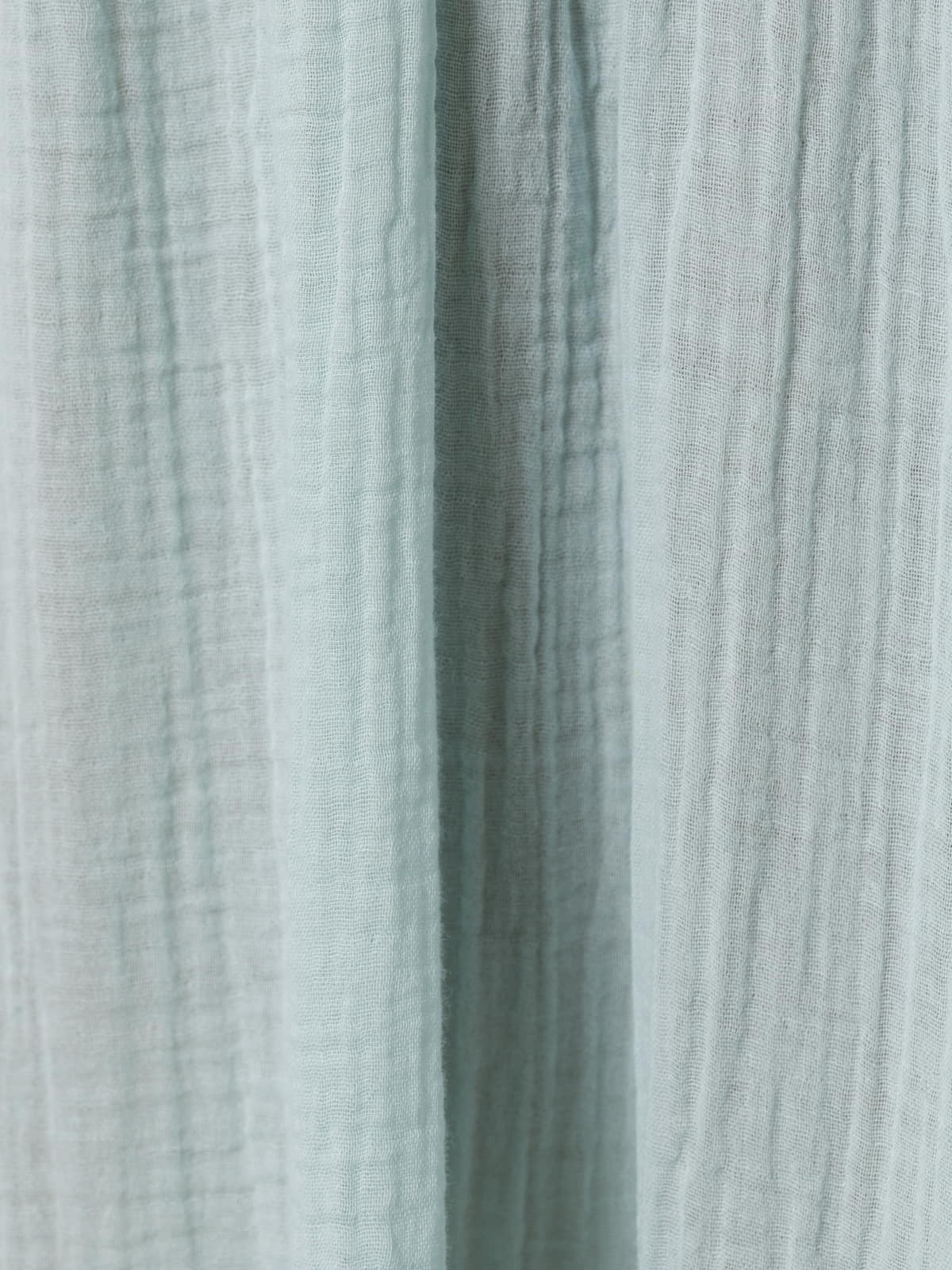Woman Long double v-neck dress Aqua