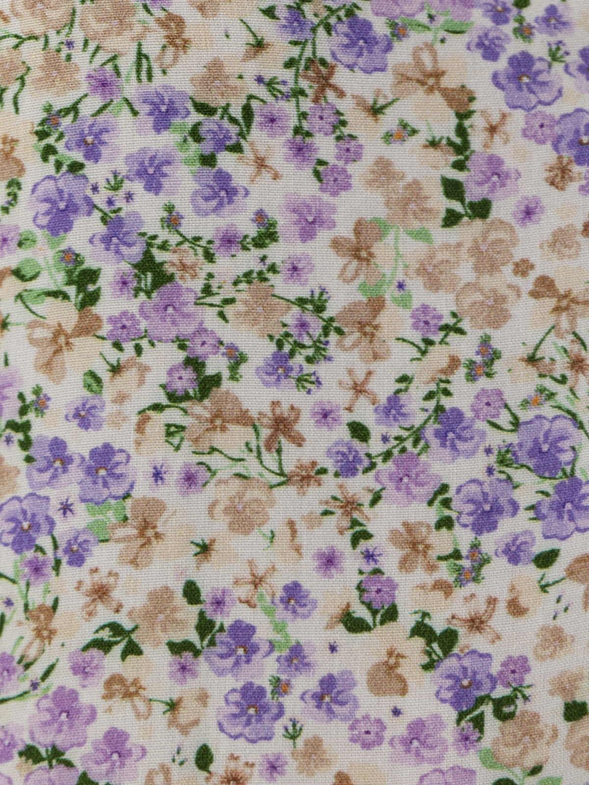 Woman Long flowery dress Lila