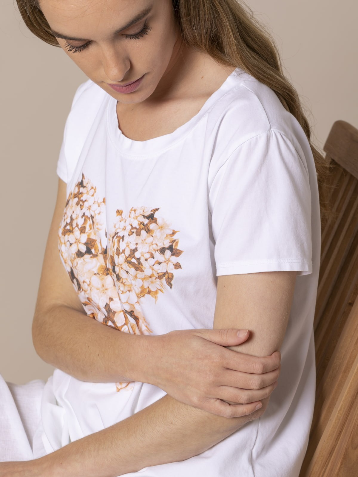 Woman Woman Teddy print T-shirt Camel