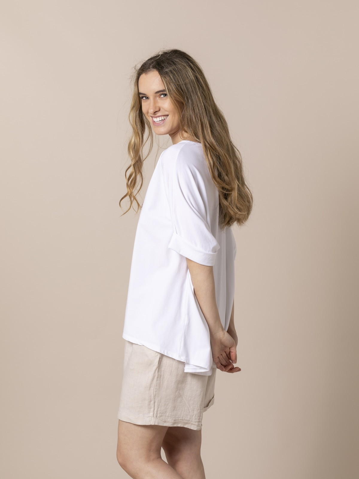 Woman Woman Teddy animal print t-shirt Camel