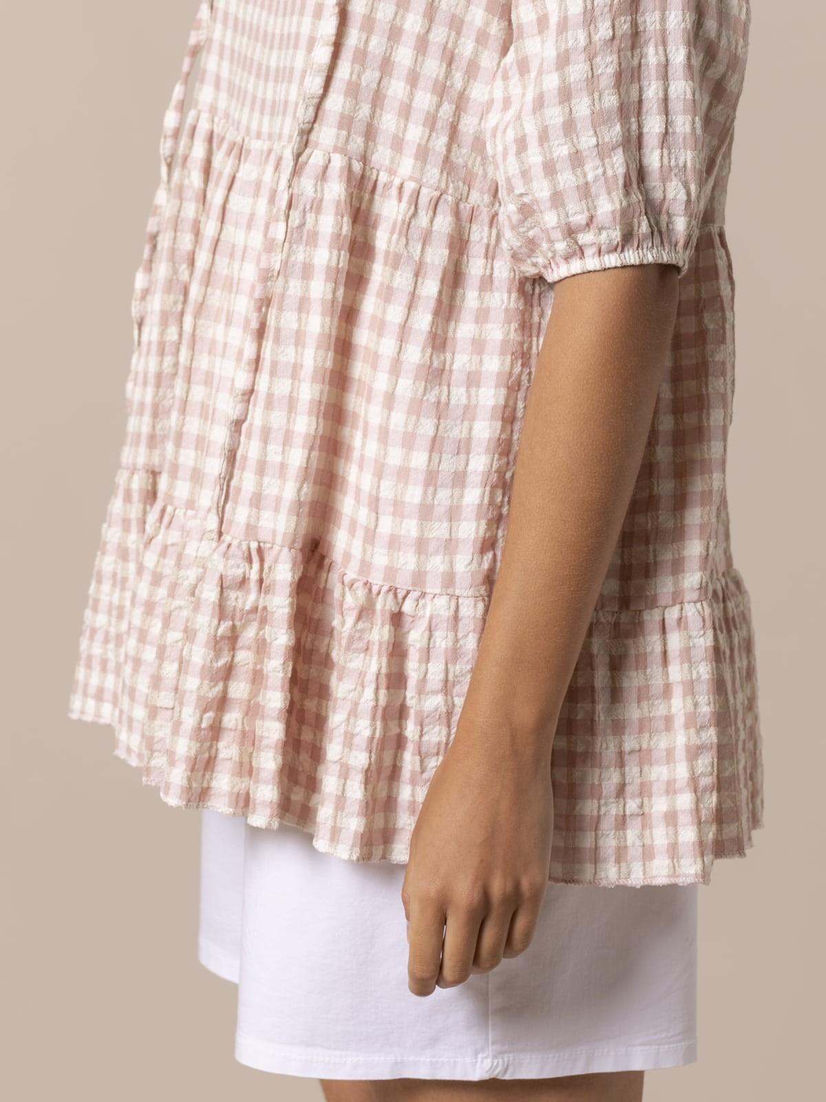 Woman Woman Gingham check shirt Pink
