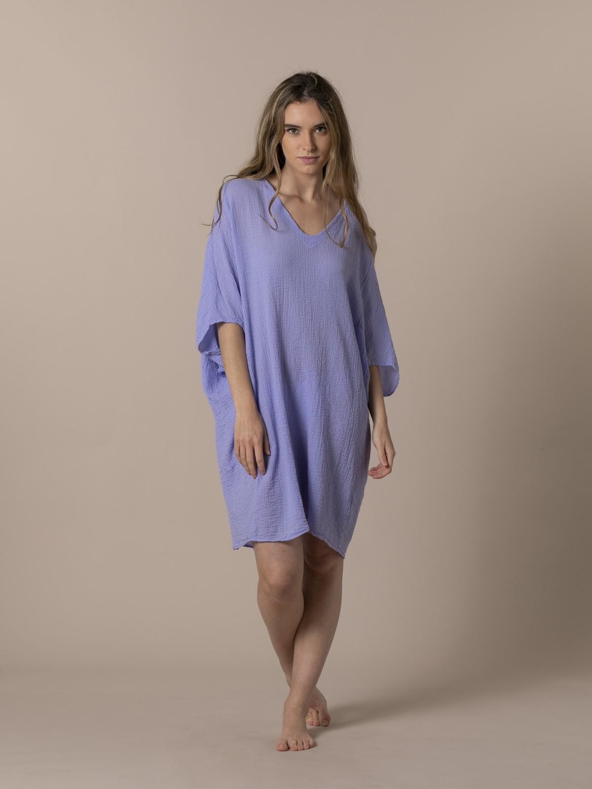 Woman Woman Wide cotton shirt Violet