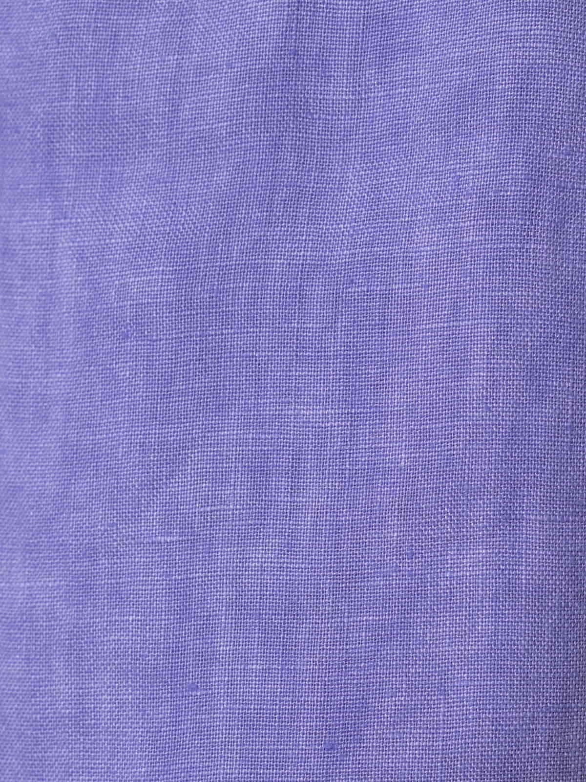 Woman Woman 100% linen trousers Violet