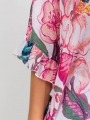 Oversized shiny ruffle shirt Pink