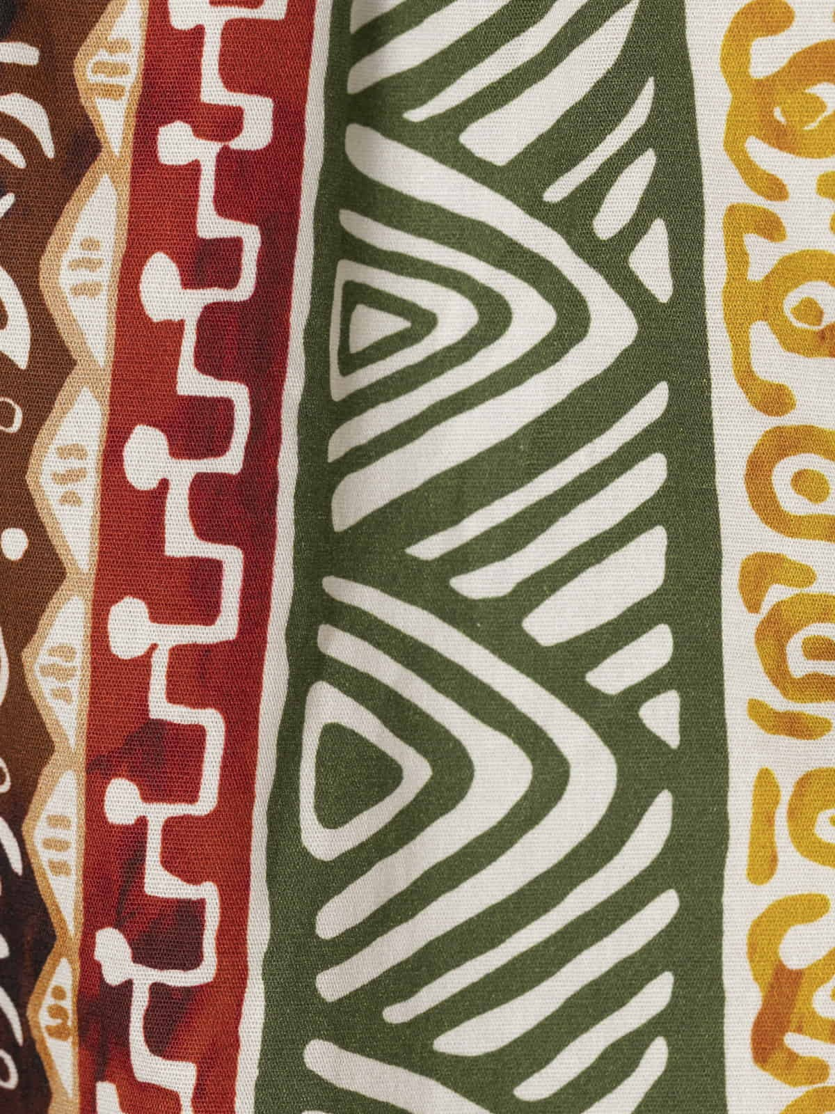 Woman Ethnic print bermuda with belt Green oscuro