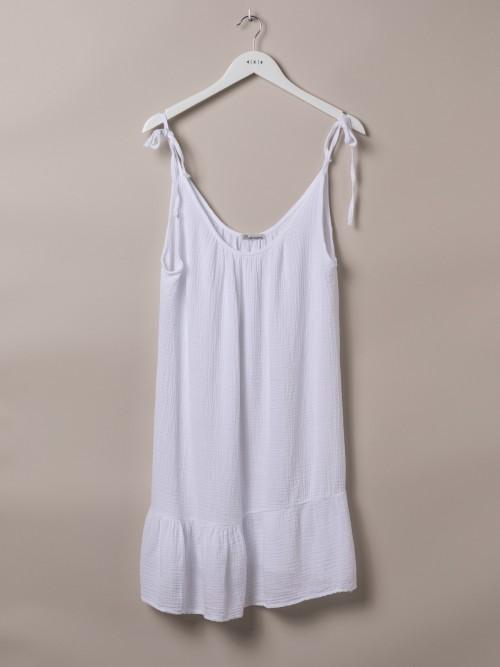 Top algodón tirante ajustable Blanco