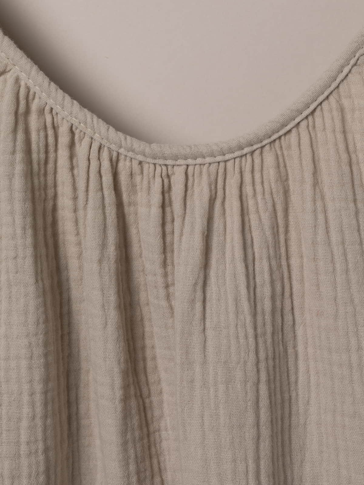 Woman Cotton top with adjustable strap Beige