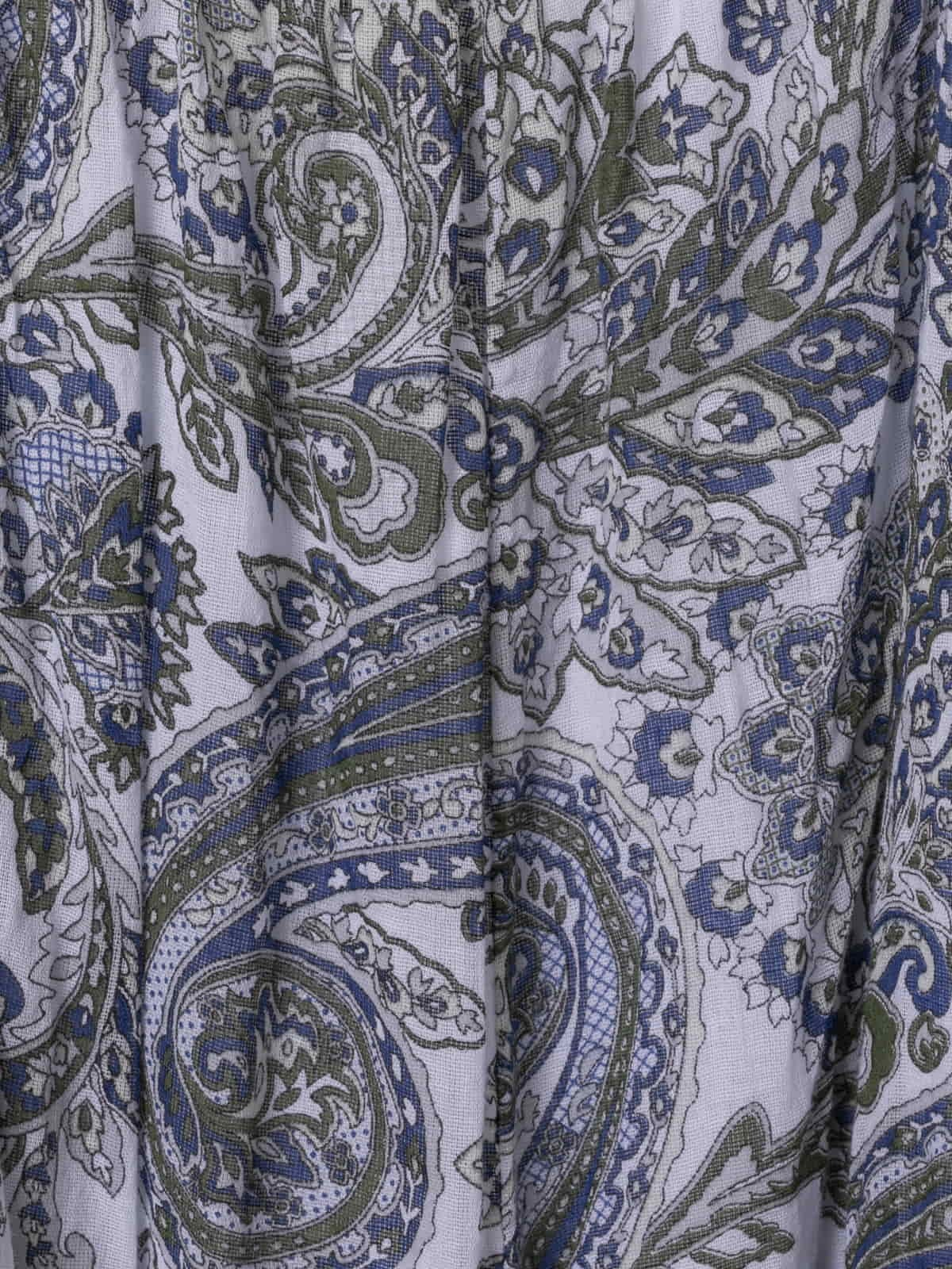 Woman Amoeba print belted jumpsuit Crudo