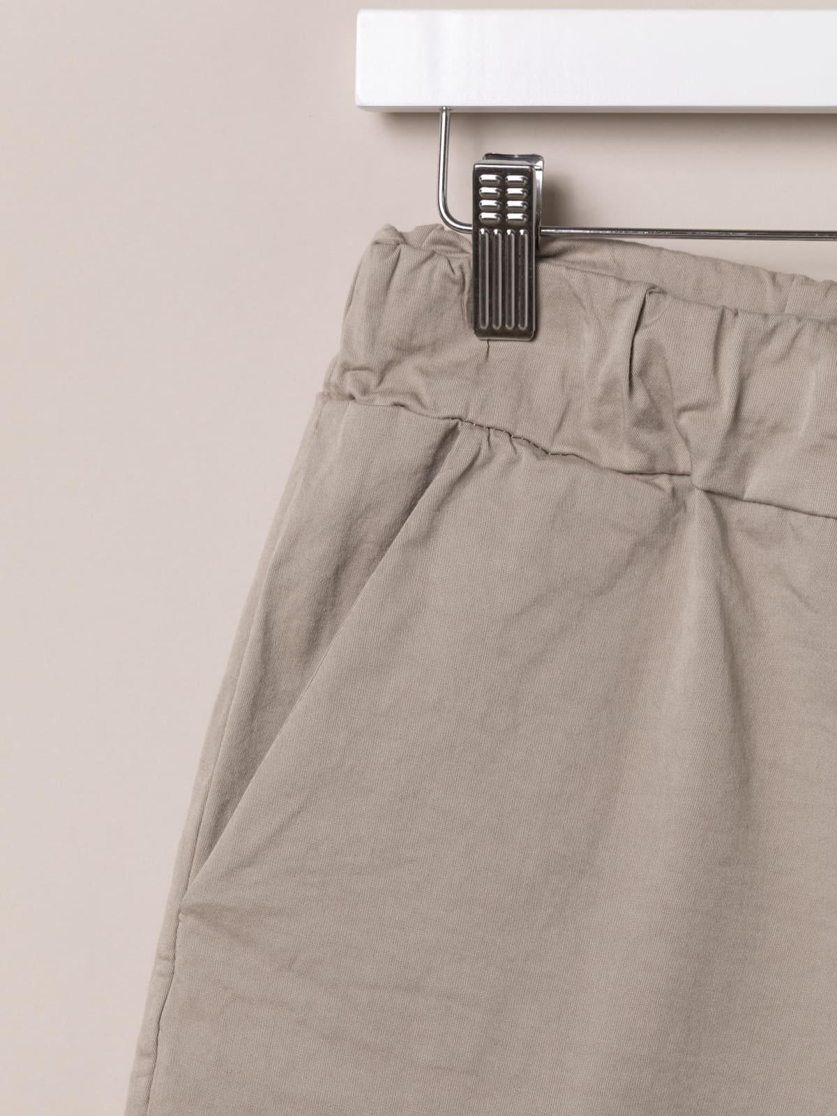 Bermuda mujer básica goma en cintura Beige