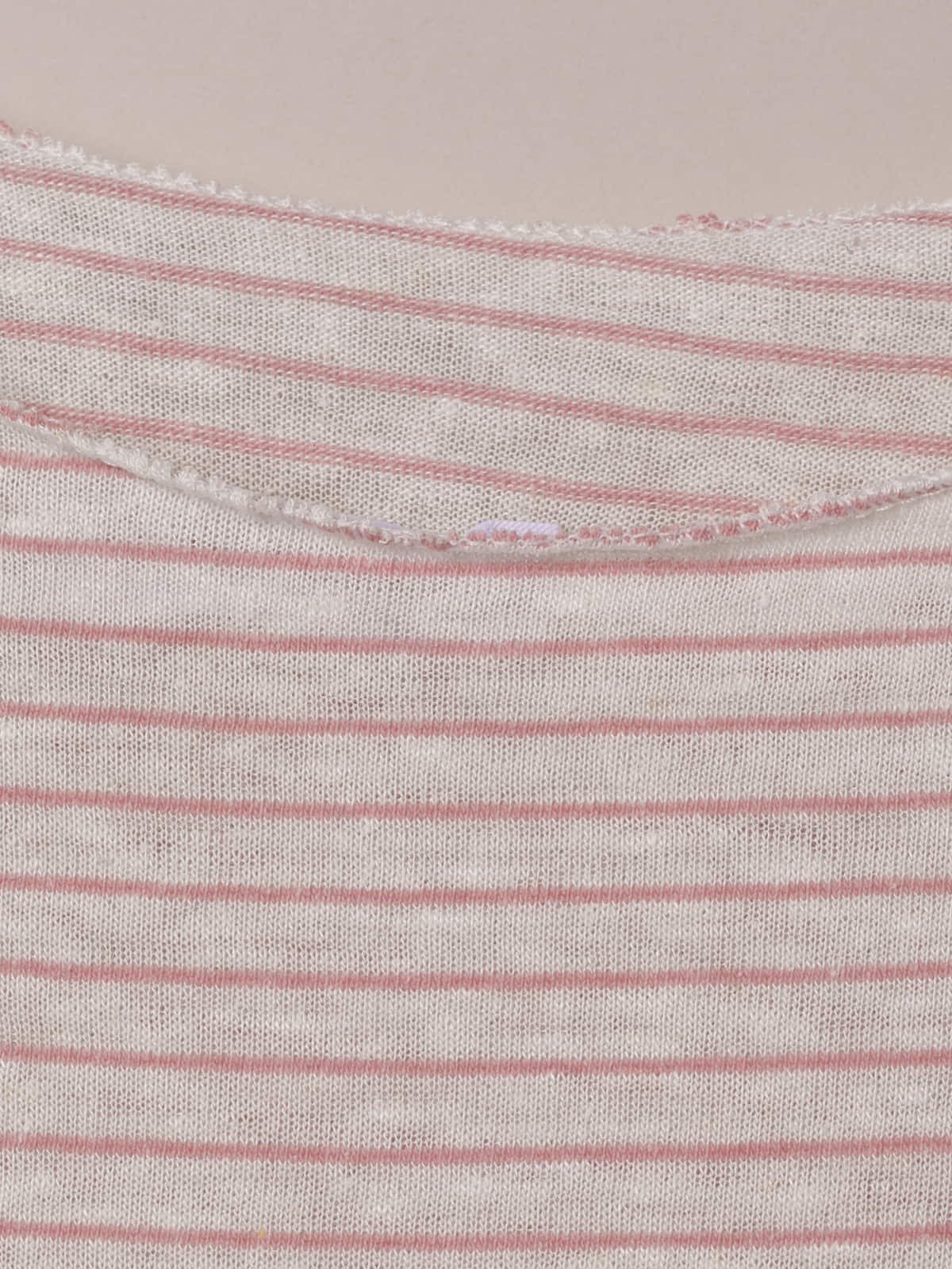 Woman Knotted striped t-shirt Pink