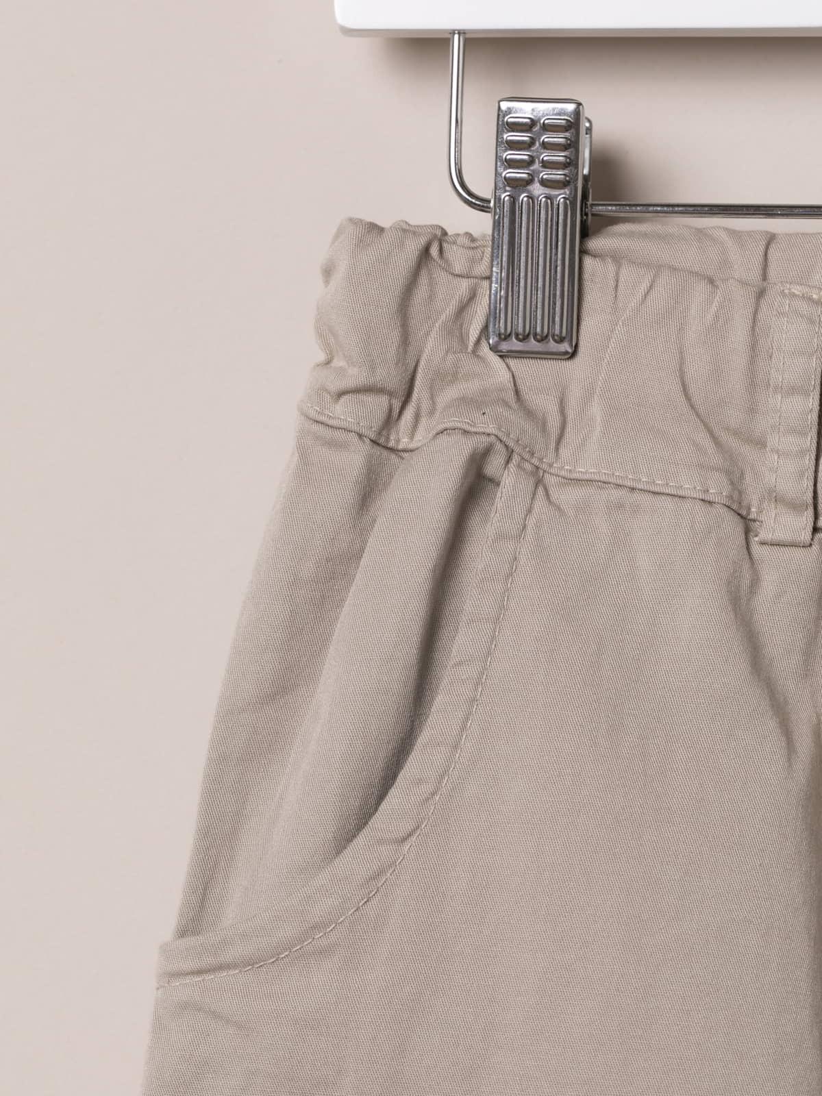 Woman Woman cotton Bermuda with straps Beige