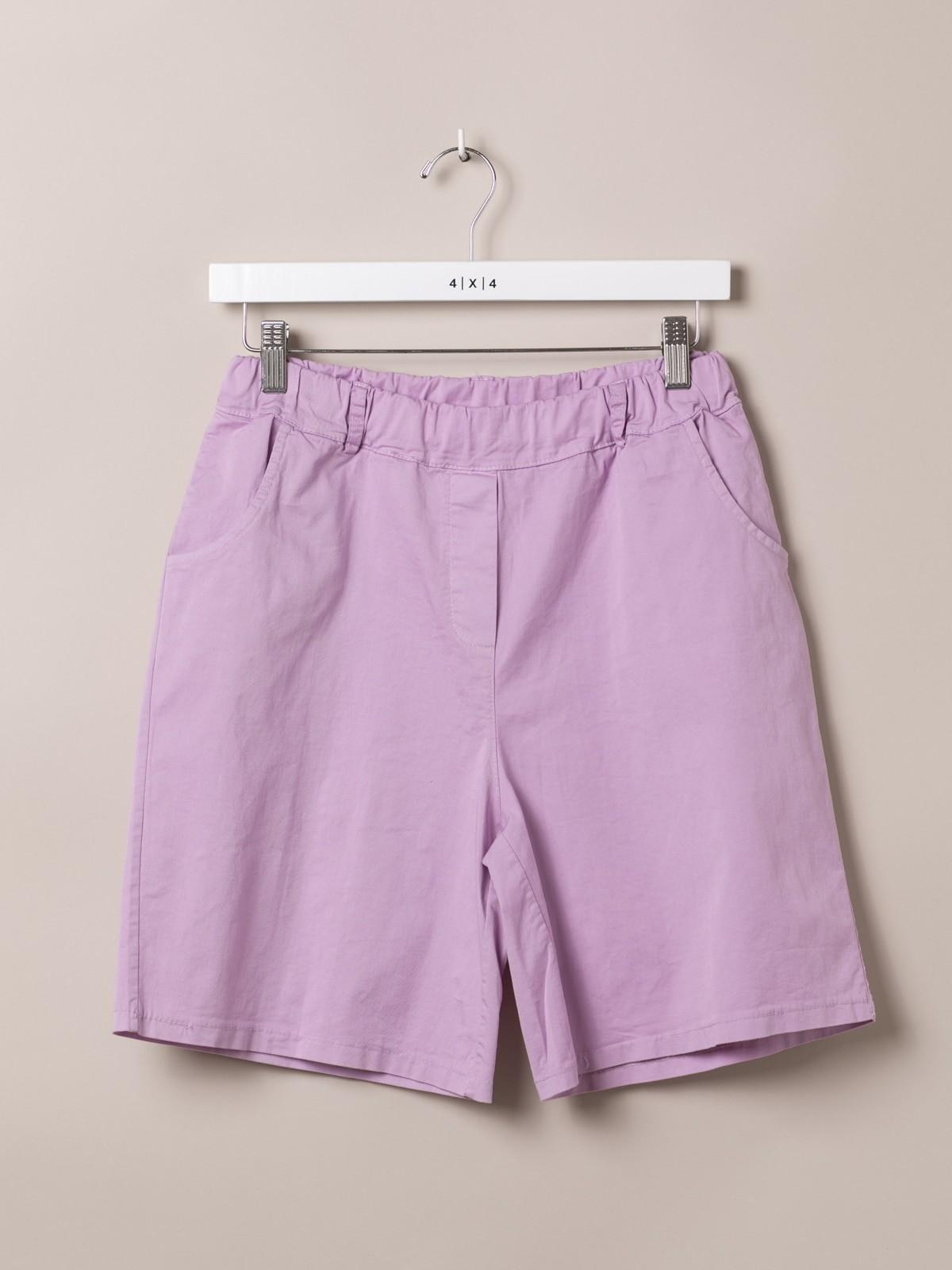 Woman Woman cotton Bermuda with straps Pink
