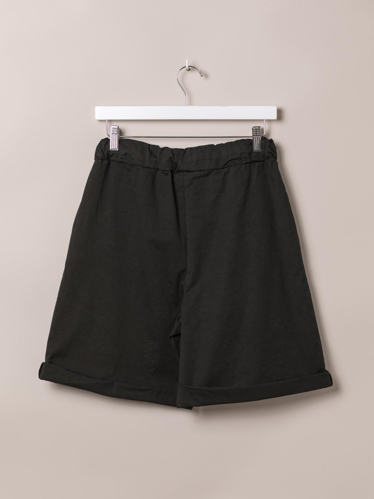 Bermuda mujer básica goma en cintura Negro