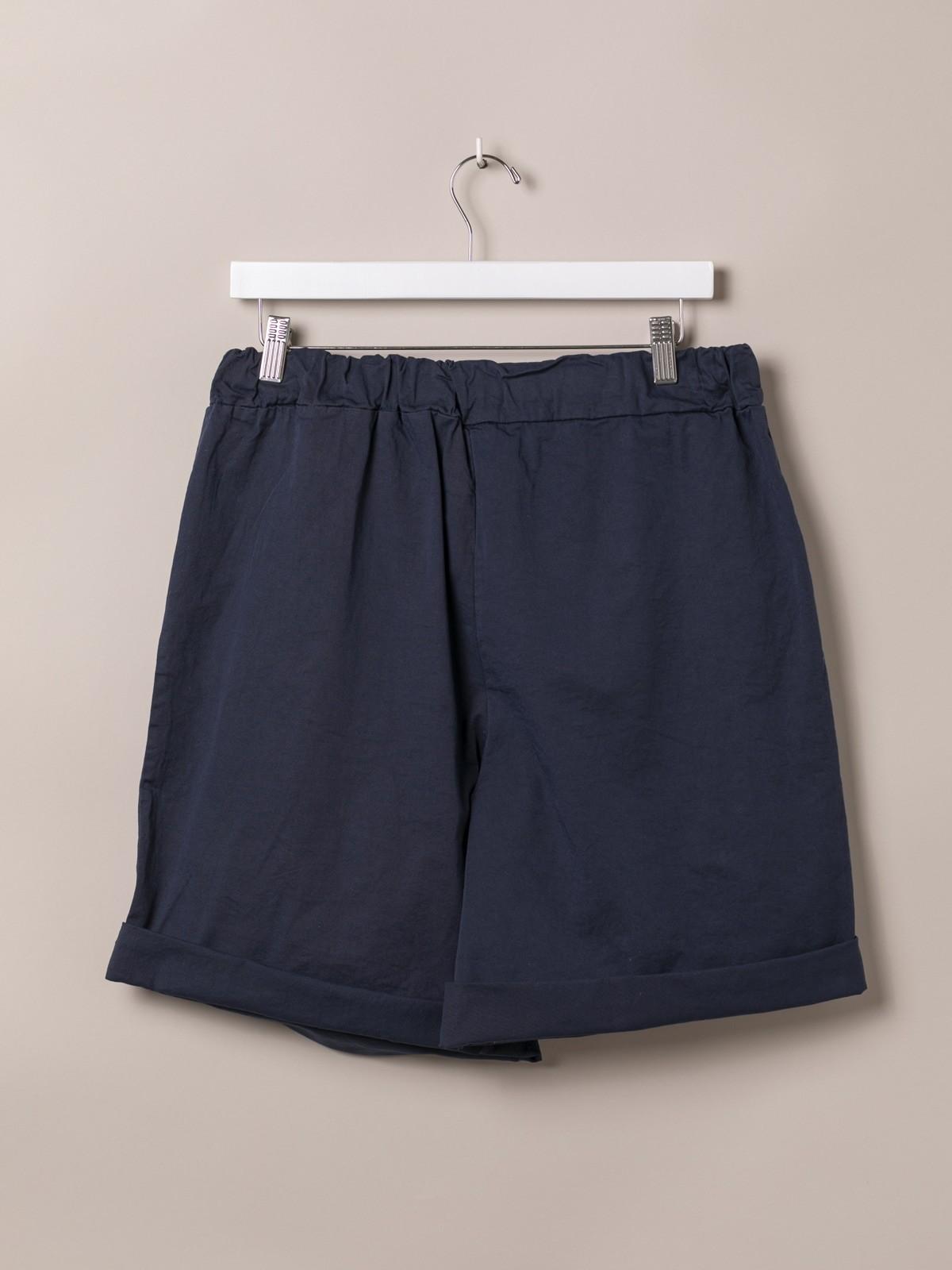 Bermuda mujer básica goma en cintura Azul Marino