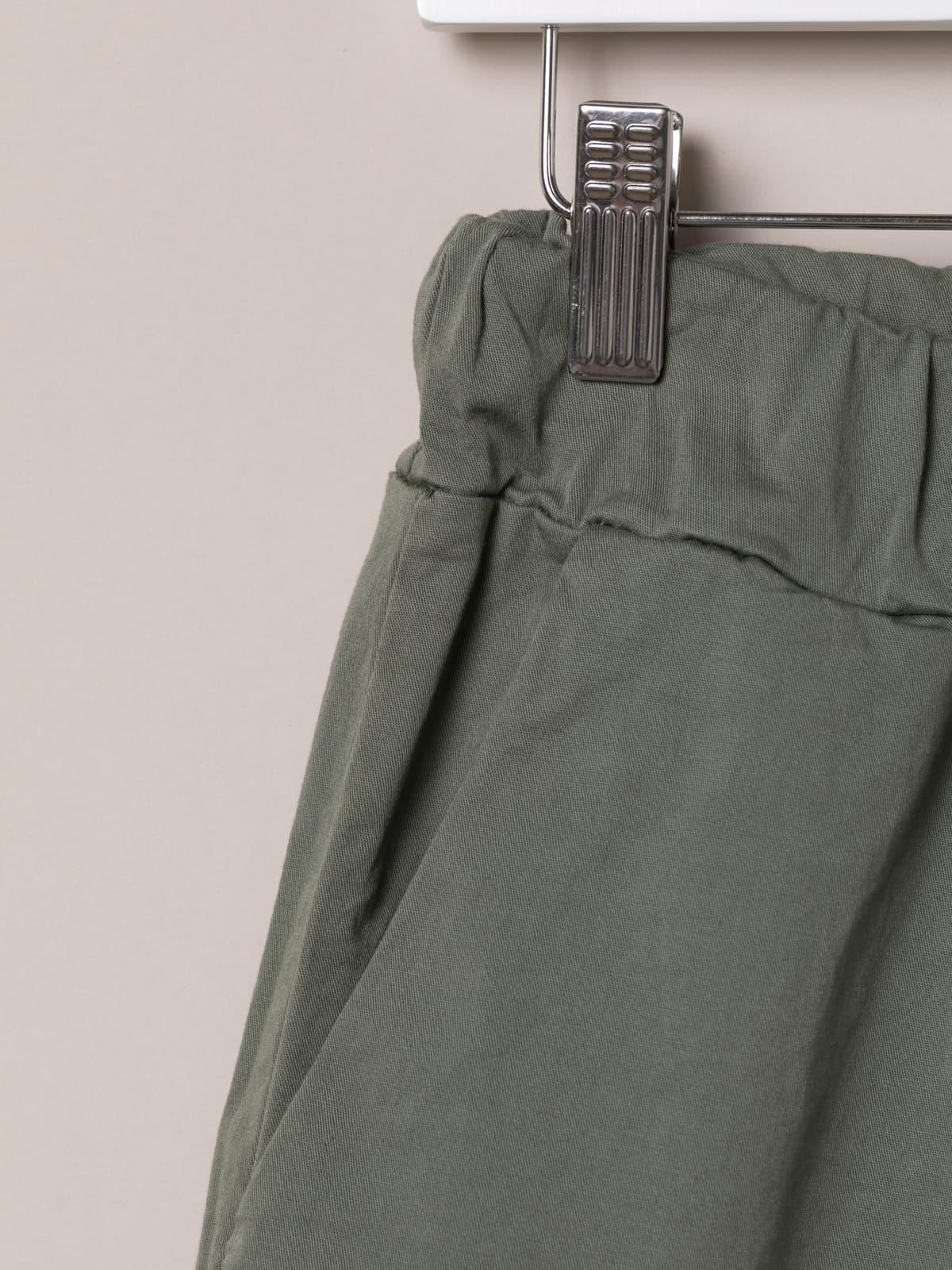 Bermuda mujer básica goma en cintura Caqui